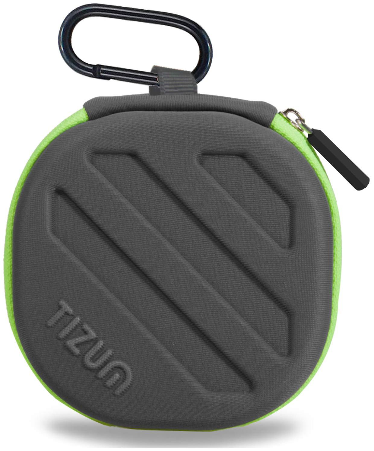 TIZUM Earphone Carrying Case   Multi Purpose Pocket Storage Case for Headphone, Pen Drives, Memory Card, Data Cable  Grey  by I Stuff 365
