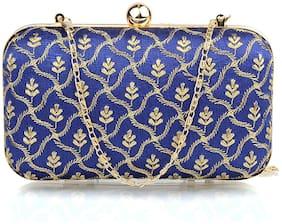 The Mini NEEDLE Women Blue Fabric Clutch