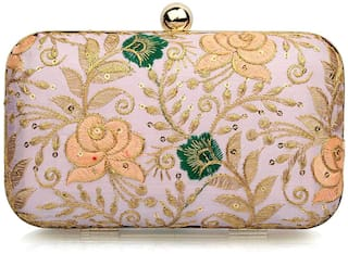 The Mini NEEDLE Women Pink Fabric Clutch