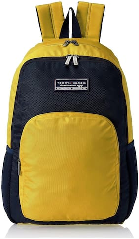 Tommy Hilfiger Yellow Polyester Backpack