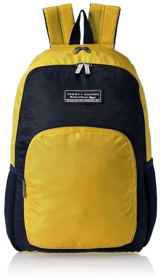 175d55cb Buy Tommy Hilfiger Casual Yellow Backpack Online at Low Prices in ...