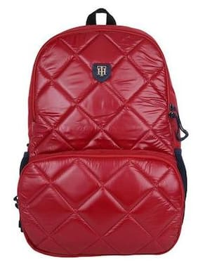 22e10446410 Tommy Hilfiger Preston'17 22.18 Ltrs Red Casual Backpack (TH/BTS04PRE,17
