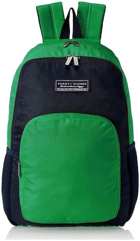 Tommy Hilfiger Green Polyester Backpack