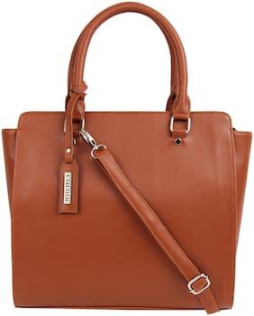 Toteteca Bag Works Tan Faux Leather Handheld Bag