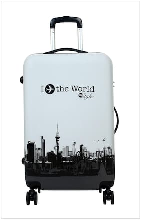 Tramp & Badger Cabin Size Hard Luggage Bag - White , 4 Wheels