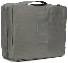 Travel Cosmetic Makeup Toiletry Case Wash Organizer Storage Pouch Hanging Bag - GRAY