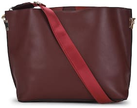 Truffle Collection Brown Aubergine Tote Bag