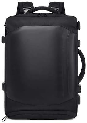 TUGUAN Multi-Functional Straps Detachable Convertible 15.6 Inches Laptop Backpack Shoulder Messenger Bag (Black)