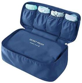 Undergarments And Innerwear Storage Bag Travel Organiser Polyester Pouch Dark Blue - MOTUDPDB