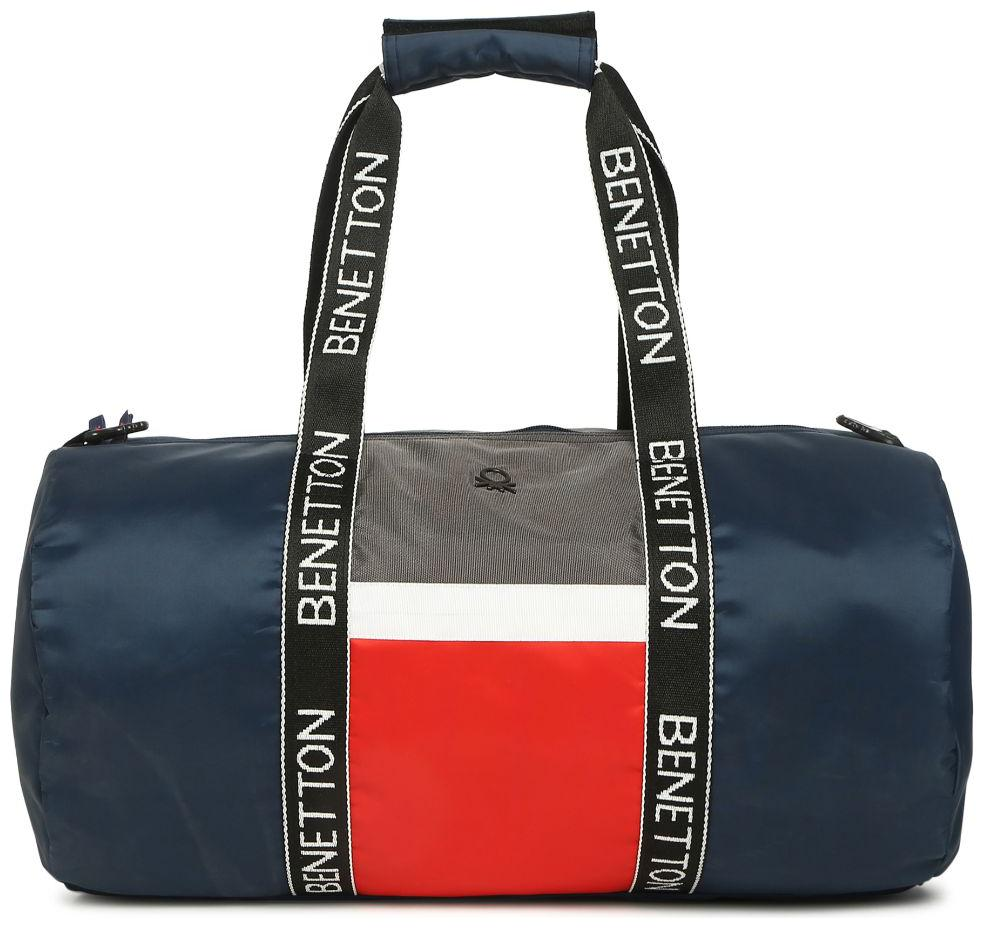 United Colors Of Benetton Red /&Black Duffle//Gym Bag
