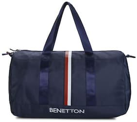 UNITED COLORS OF BENETTON GYM & DUFFLE BAG NAVY BLUE