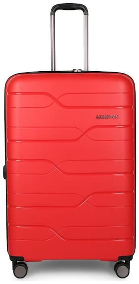 United Colors Of Benetton Large Size Hard Luggage Bag ( Red , 4 Wheels )