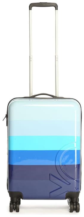 United Colors Of Benetton Cabin Size Hard Luggage Bag - Multi , 4 Wheels