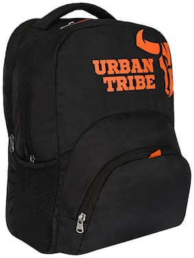 Urban Tribe Black Waterproof Polyester Backpack