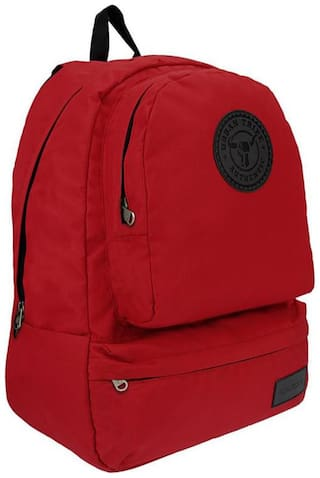 Urban Tribe Red Waterproof Polyester Backpack