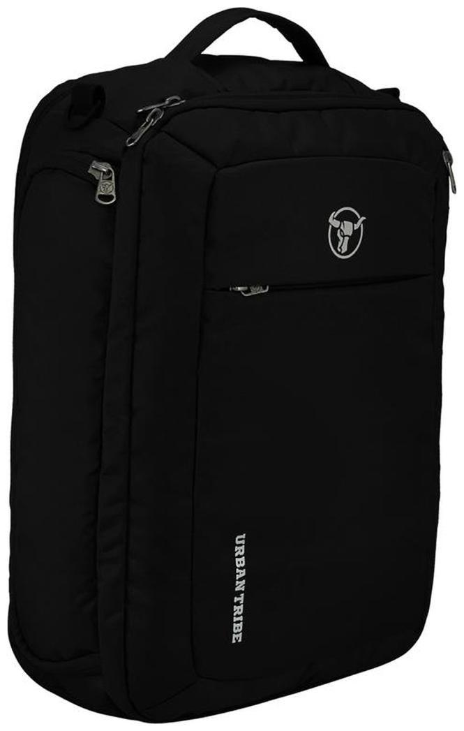 Urban Tribe Trans4mer Multipurpose Laptop Backpack cum Messenger Bag cum overnighter cum Briefcase  20 Litres  Black