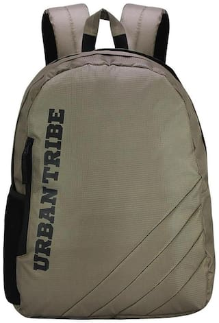 Urban Tribe Tan Polyester Laptop backpack