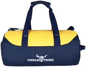 Urban Tribe Polyester Men Gym bag & Duffle bag - Blue & Yellow