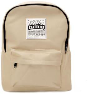 VAJERO Beige PU Backpack