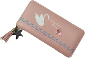 Valerie Women Leather Wallet - Pink