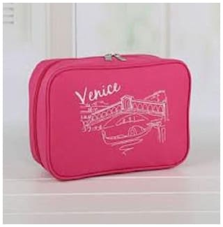 CONNECTWIDE Women Nylon Vanity Case - Pink
