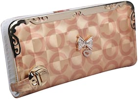 VHPQ Trending & Stylish Easy to Carry Beautiful Golden Wallets