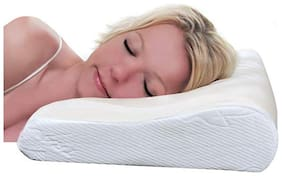 VIAGGI Cervical Sleeping Contoured Spondylitis Use Memory Faom Pillow - White