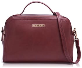 CAPRESE Women Faux Leather Vanity Case - Red