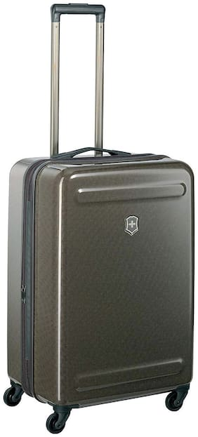 Victorinox Medium Size Hard Luggage Bag ( Brown , 4 Wheels )