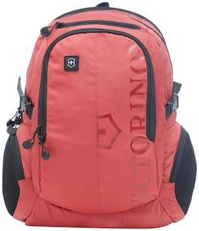 Victorinox Red Waterproof Nylon Backpack