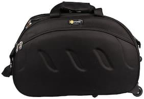 VIDHI Black Travel Duffel Bag with two wheels  (Black)