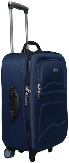 Vidhi Medium Size Soft Luggage Bag ( Blue , 3 Wheels )