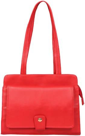 Vidhi Red PU Shoulder Bag
