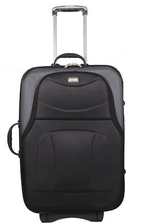 Vidhi Medium Size Soft Luggage Bag ( Black , 2 Wheels )