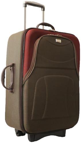 Vidhi Cabin Size Soft Luggage Bag ( Brown , 2 Wheels )