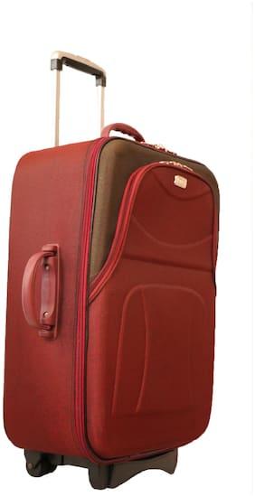 Vidhi Cabin Size Soft Luggage Bag ( Maroon , 2 Wheels )