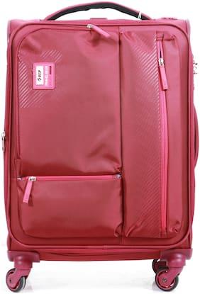 VIP Stax Cabin Size Soft Luggage Bag ( Maroon , 4 Wheels )
