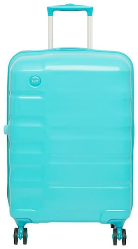VIP Ceptor Medium Size Hard Luggage Bag ( Blue , 8 Wheels )
