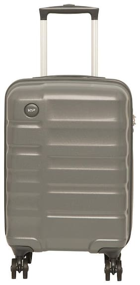 VIP Ceptor Cabin Size Hard Luggage Bag ( Grey , 8 Wheels )