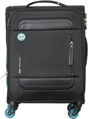 VIP Curtis Cabin Size Soft Luggage Bag ( Black , 4 Wheels )