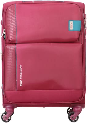 VIP Flamingo Cabin Size Soft Luggage Bag ( Red , 4 Wheels )