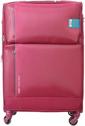 VIP Flamingo Medium Size Soft Luggage Bag ( Red , 4 Wheels )