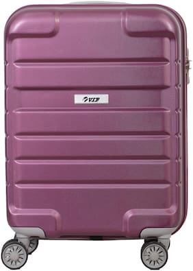 VIP Hummer Cabin Size Hard Luggage Bag ( Purple , 4 Wheels )