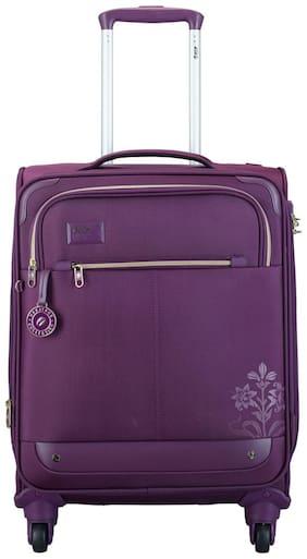 VIP Cabin Size Soft Luggage Bag ( Purple , 4 Wheels )