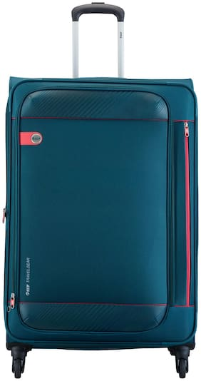VIP Medium Size Soft Luggage Bag - Blue , 4 Wheels