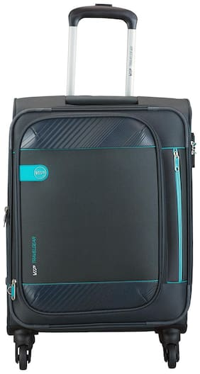 VIP Cabin Size Soft Luggage Bag ( Blue , 4 Wheels )