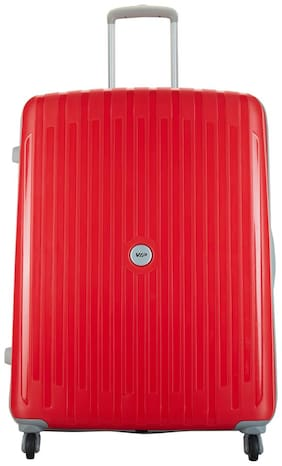 VIP Large Size Hard Luggage Bag ( Red , 4 Wheels )