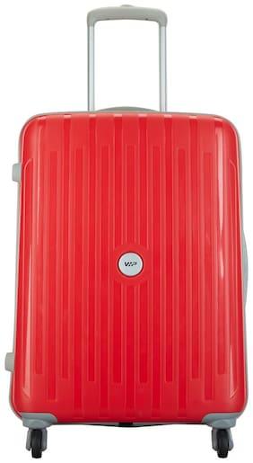 VIP Medium Size Hard Luggage Bag ( Red , 4 Wheels )