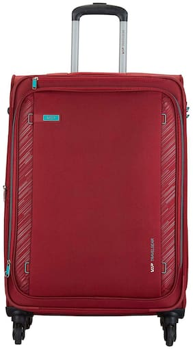 VIP Cabin Size Hard Luggage Bag ( Red , 4 Wheels )
