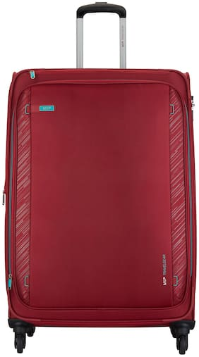VIP Large Size Soft Luggage Bag ( Maroon , 4 Wheels )